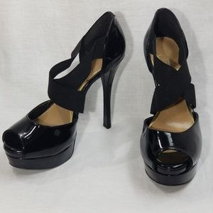 Jessica Simpson Black Patten Leather Platform Sz 8